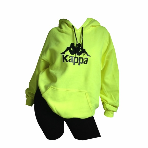 cb7366ce Neon Green Kappa Hoodie Boutique